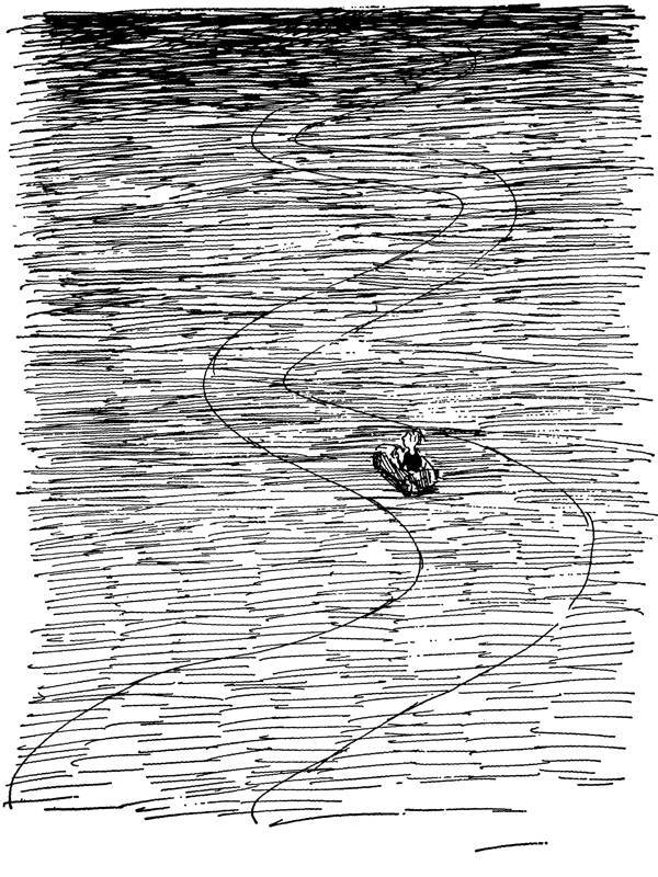 Milo in the Doldrums, The Phantom Tollbooth, Norton Juster, illus. by Jules Feiffer (Random House, 1961)