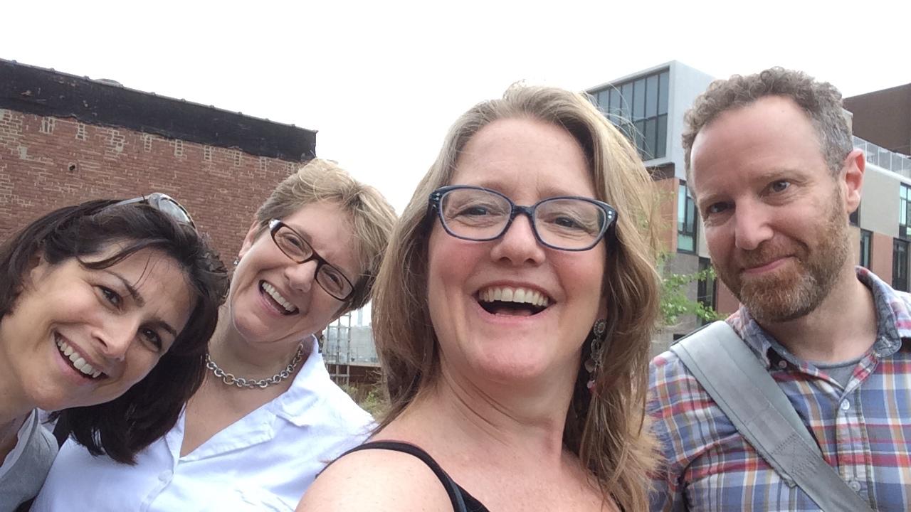 Deb Shapiro, Emma D. Dryden, Sarah Towle, and me at Kickstarter headquarters, May 2015.