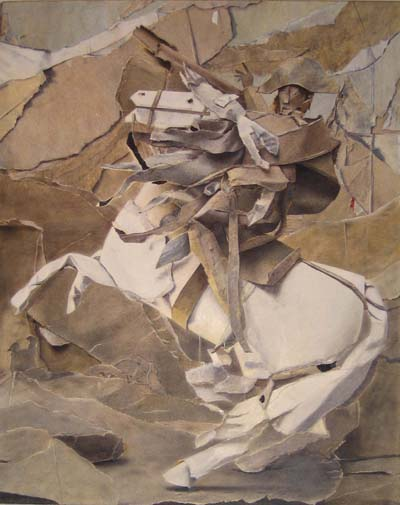 William Daniels                     Napoleon Crossing the Great Saint Bernard Pass , 2006  oil on board  31 x 25 cm