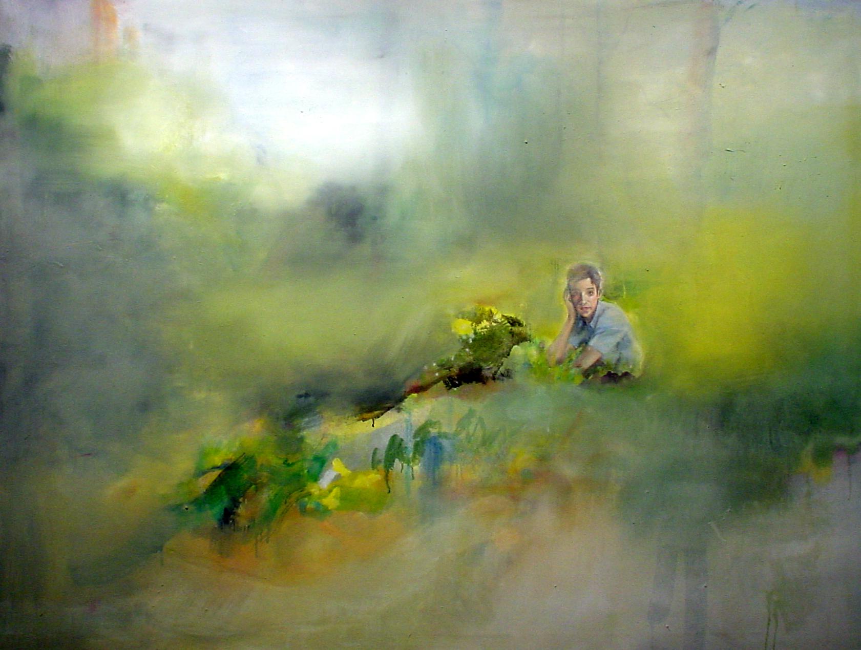 Jochen Klein Untitled | 1997          Oil on canvas          102 x 147 cm           Pinakothek der Moderne, München