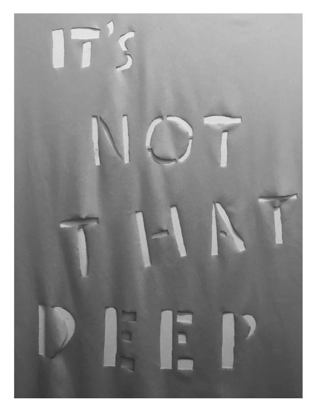 Hannah Black,  It's Not That Deep , 2016