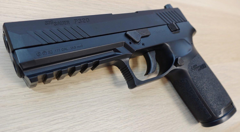 Sig Sauer ASP P320 CO2 Blowback  177 Caliber Pellet Pistol Table Top