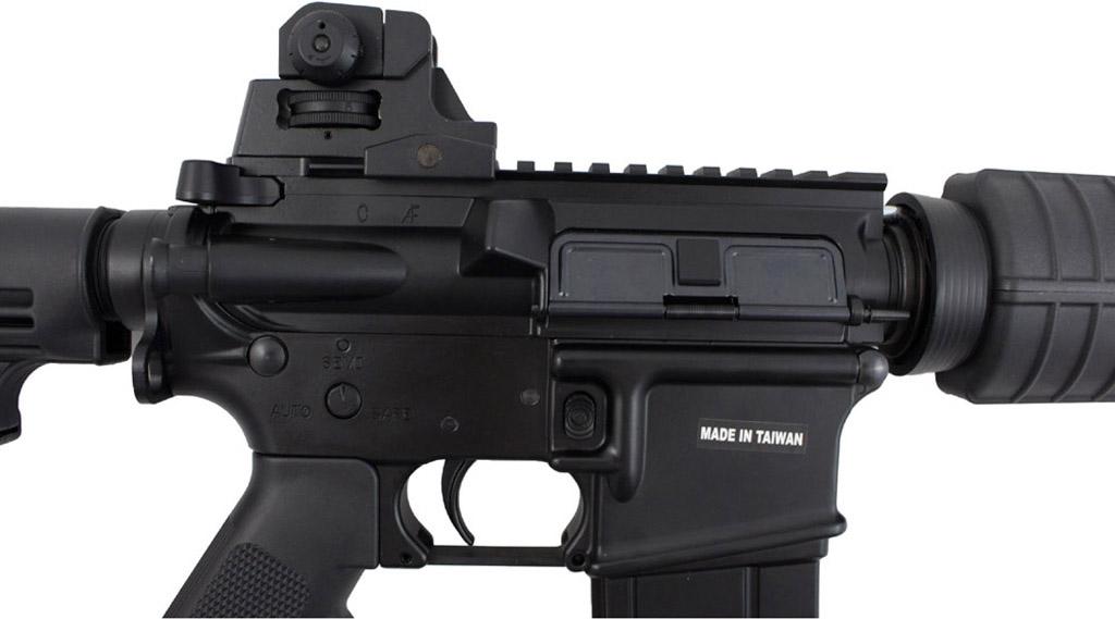 KJWorksM4 CQB Carbine GBB Airsoft Rifle Left Receiver.jpg