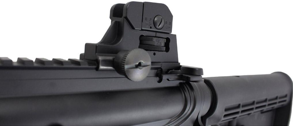 KJWorksM4 CQB Carbine GBB Airsoft Rifle Left Side Rear Sight.jpg