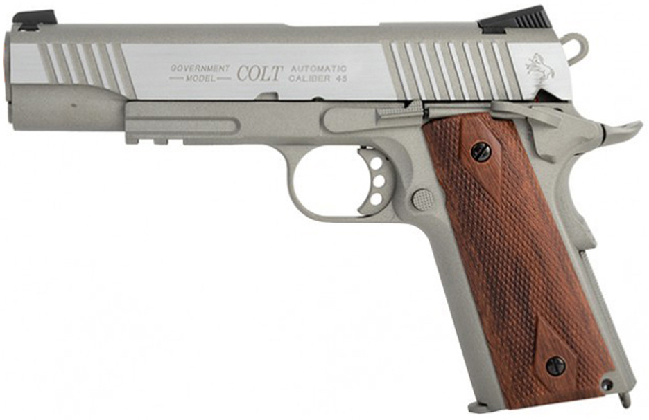 Cybergun 1911 Rail Gun Stainless Airsoft Left Side.jpg