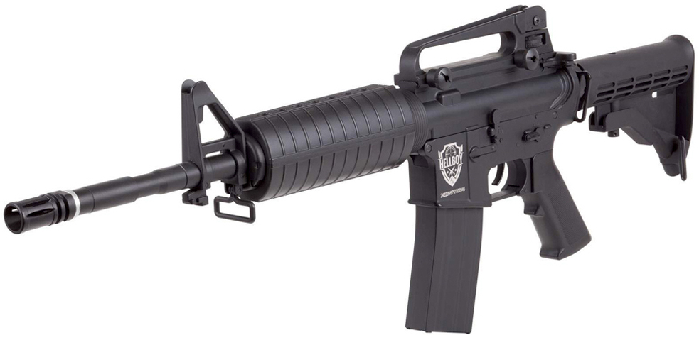 HellBoy CO2 BB M4 Air Rifle Left Side Front.jpg