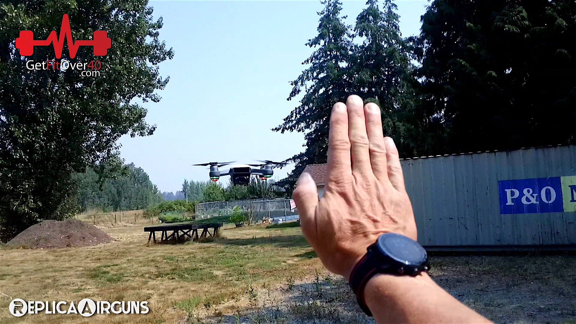 DJI Spark Drone First Field Test Shooting Guns Drone Hand.jpg