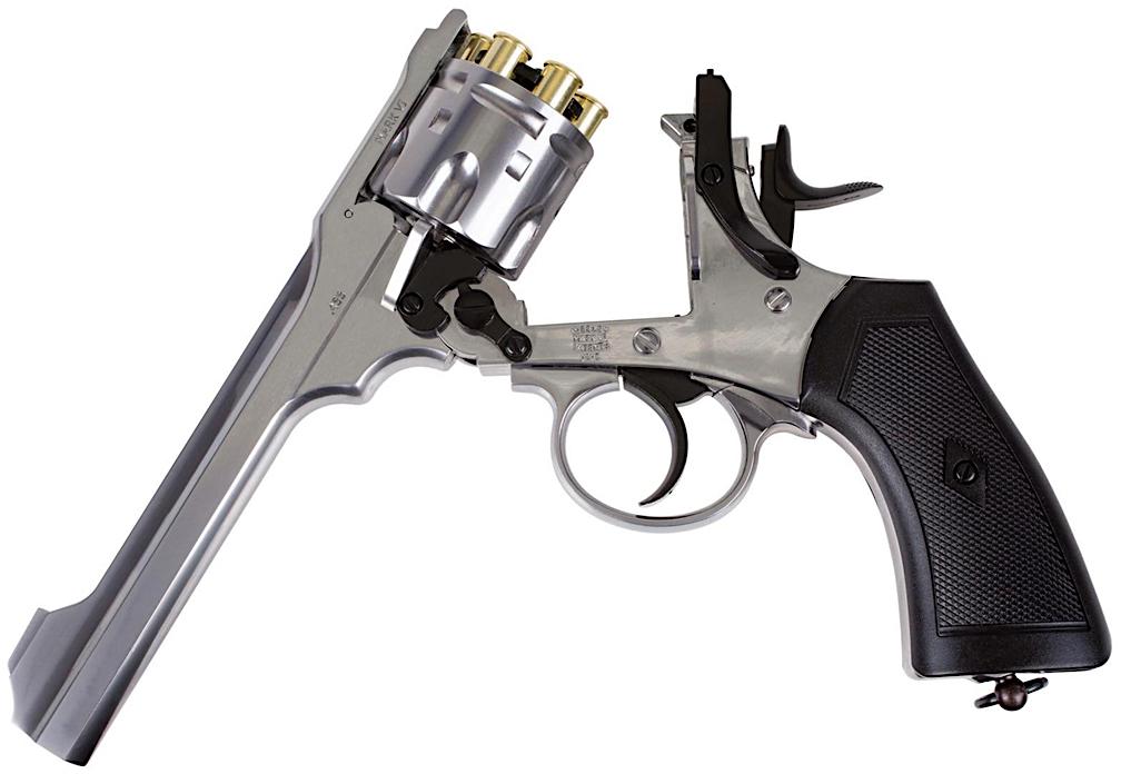 Webley MKVI .455 CO2 Shell Loading Pellet Revolver Left Side Open.jpg