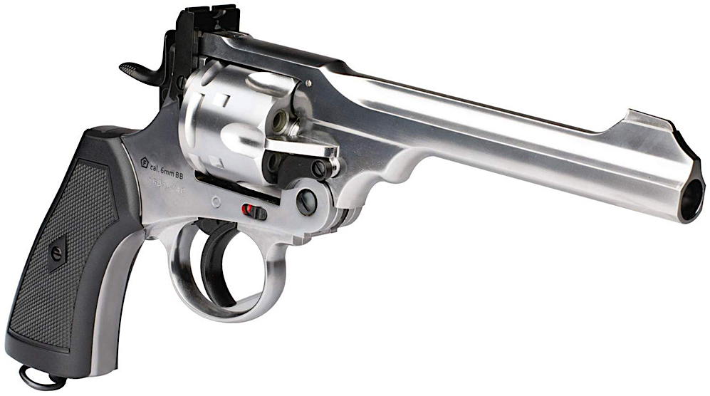 Webley MKVI .455 CO2 Shell Loading Pellet Revolver Right Side Angle.jpg