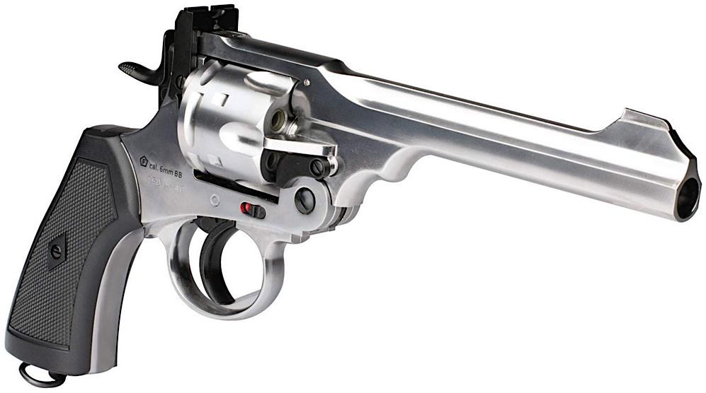 Webley MKVI .455 CO2 Shell Loading Pellet Revolver Right Side Angle.jpg