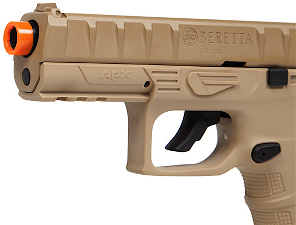 Umarex Beretta APX CO2 Blowback Airsoft Pistol Earth Left Side Front.jpg