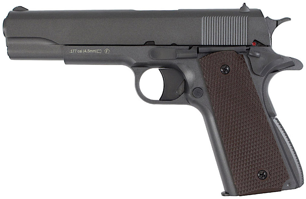 KWC M1911 Non-Blowback CO2 Pellet Pistol Left Side.jpg