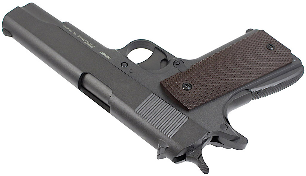 KWC M1911 Non-Blowback CO2 Pellet Pistol Left Side Angle.jpg