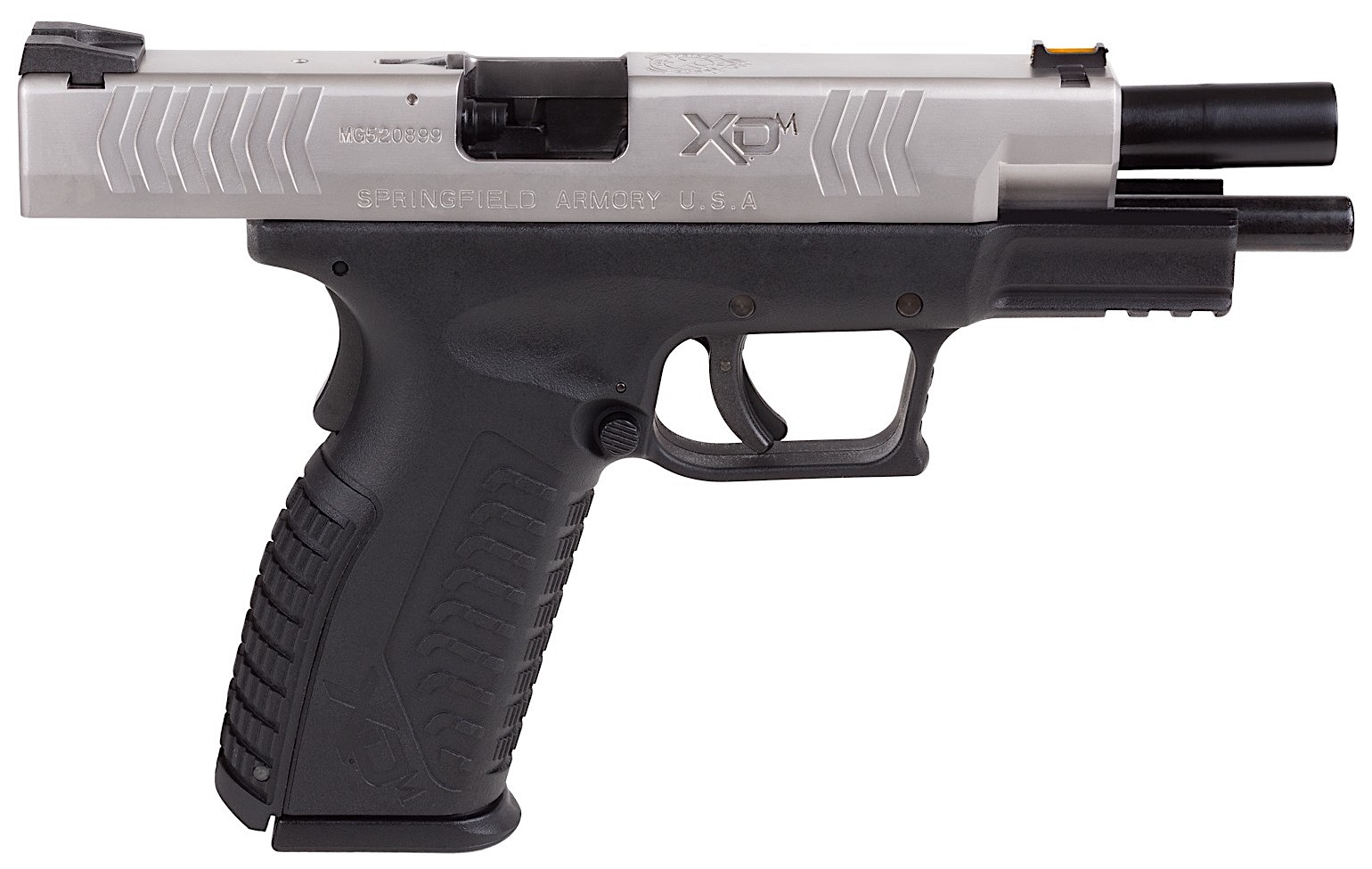 Springfield Armory XDM CO2 BB Right Side Open Silver.jpg