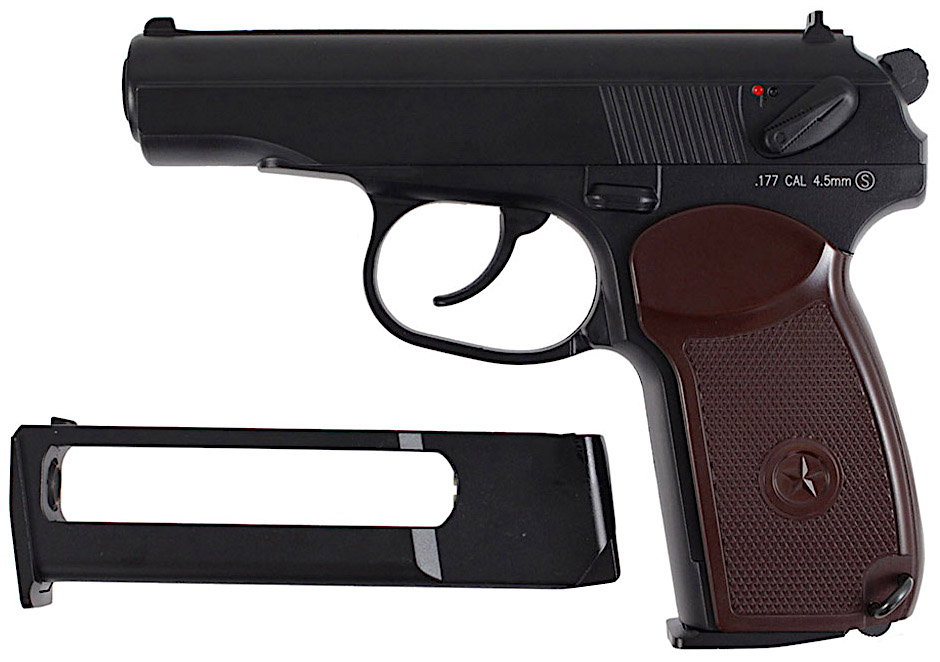KWC Makarov PM CO2 NBB BB Pistol Left Side Mag.jpg