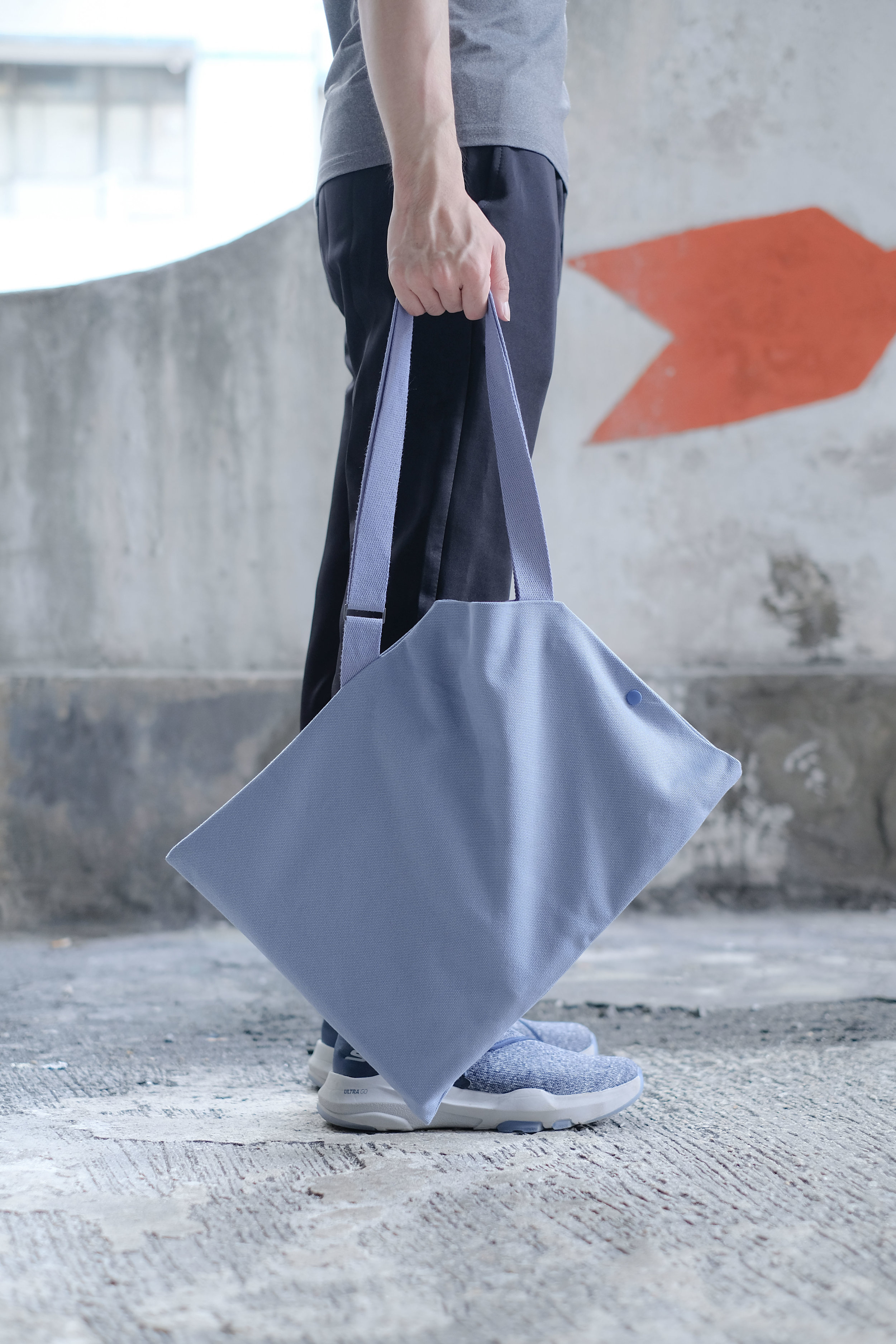 DIAGONAL bag in Dusty Blue