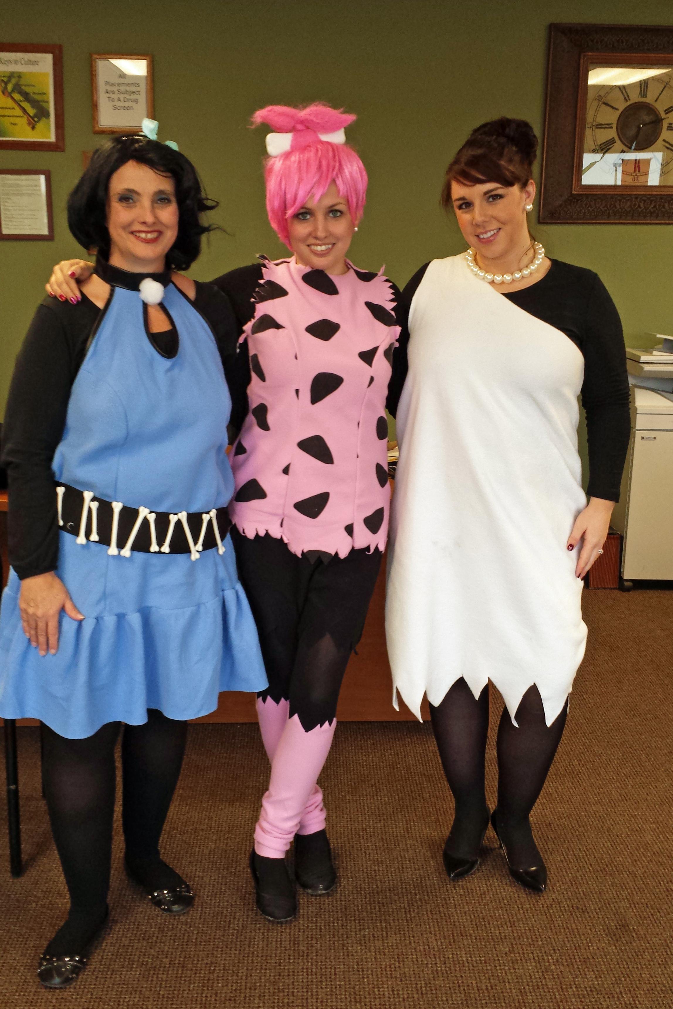 Columbus went back in time to honor the Flintstones. Tonya, Erica, & Sheila.