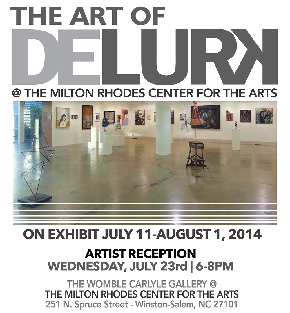 Artist's Reception: Wednesday, July 23 from 6-8.    Exhibition Dates: July 11 - August 1, 2014 Artwork will be available for sale beginning July 11th .