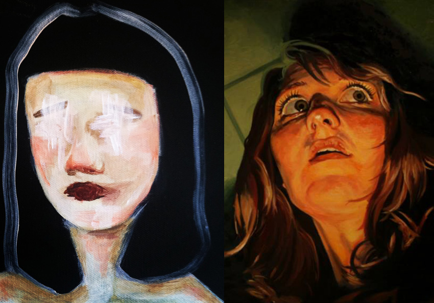 details from new works by Molly and Allison respectively...