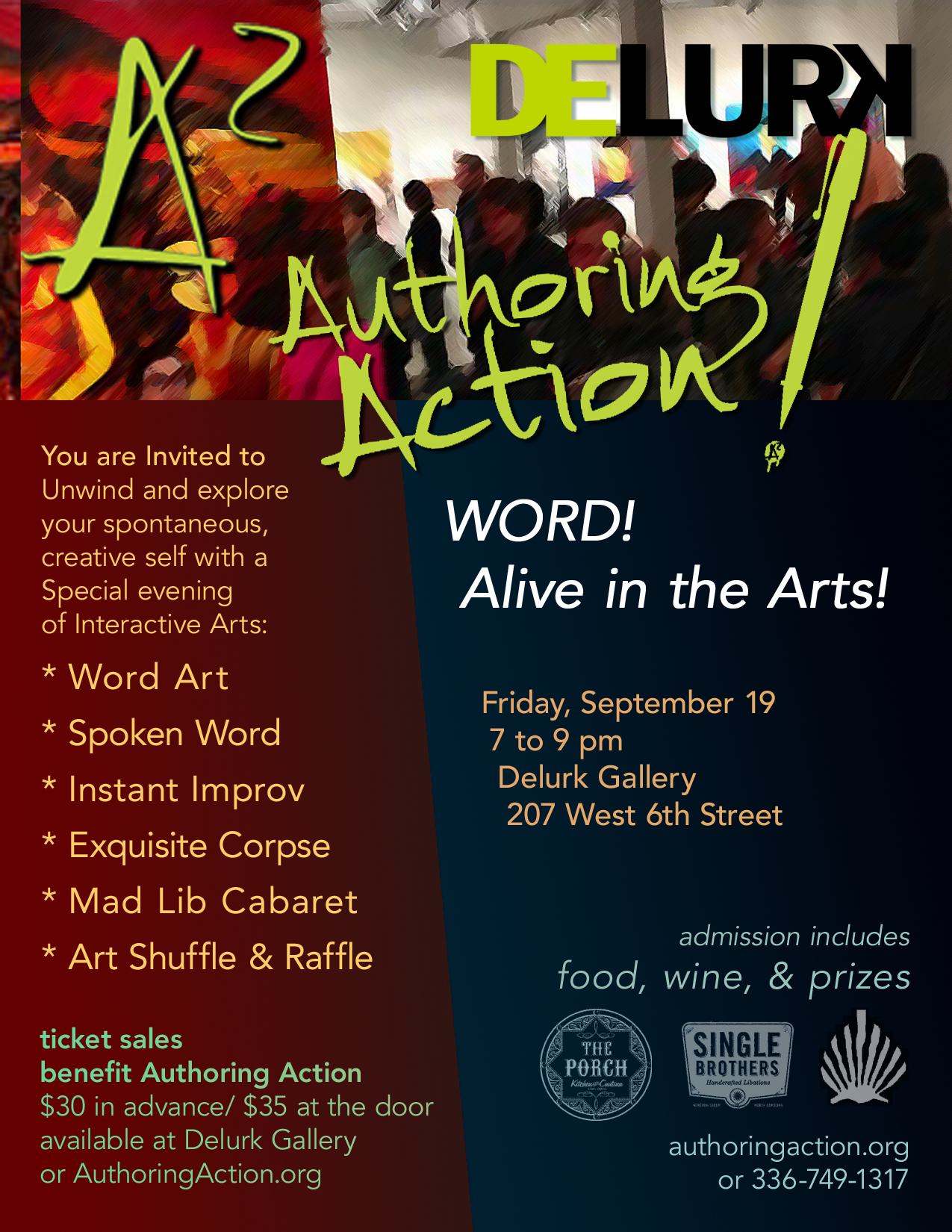 For more information email info@authoringaction.org, or call 336-749-1317.
