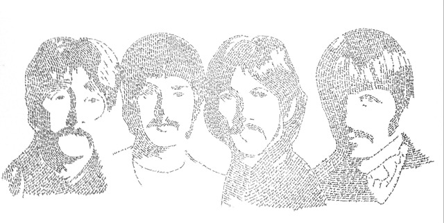 The Beatles - In Their Own Words series - pen and ink