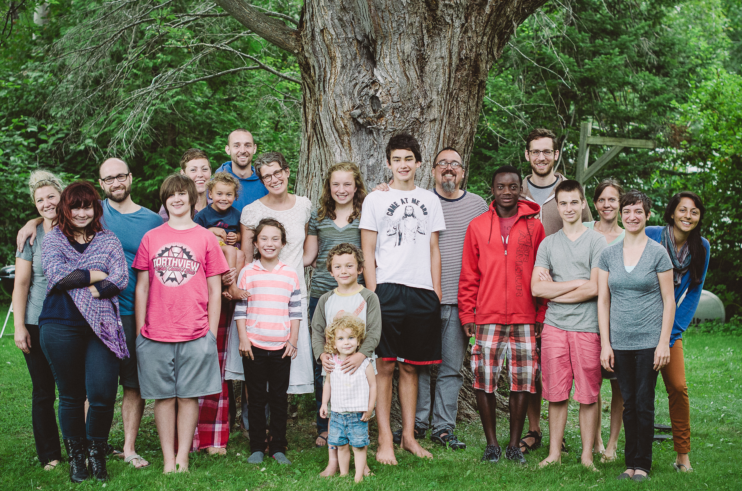 our core leadership team, inclusive of spouses and kids, on our retreat weekend.