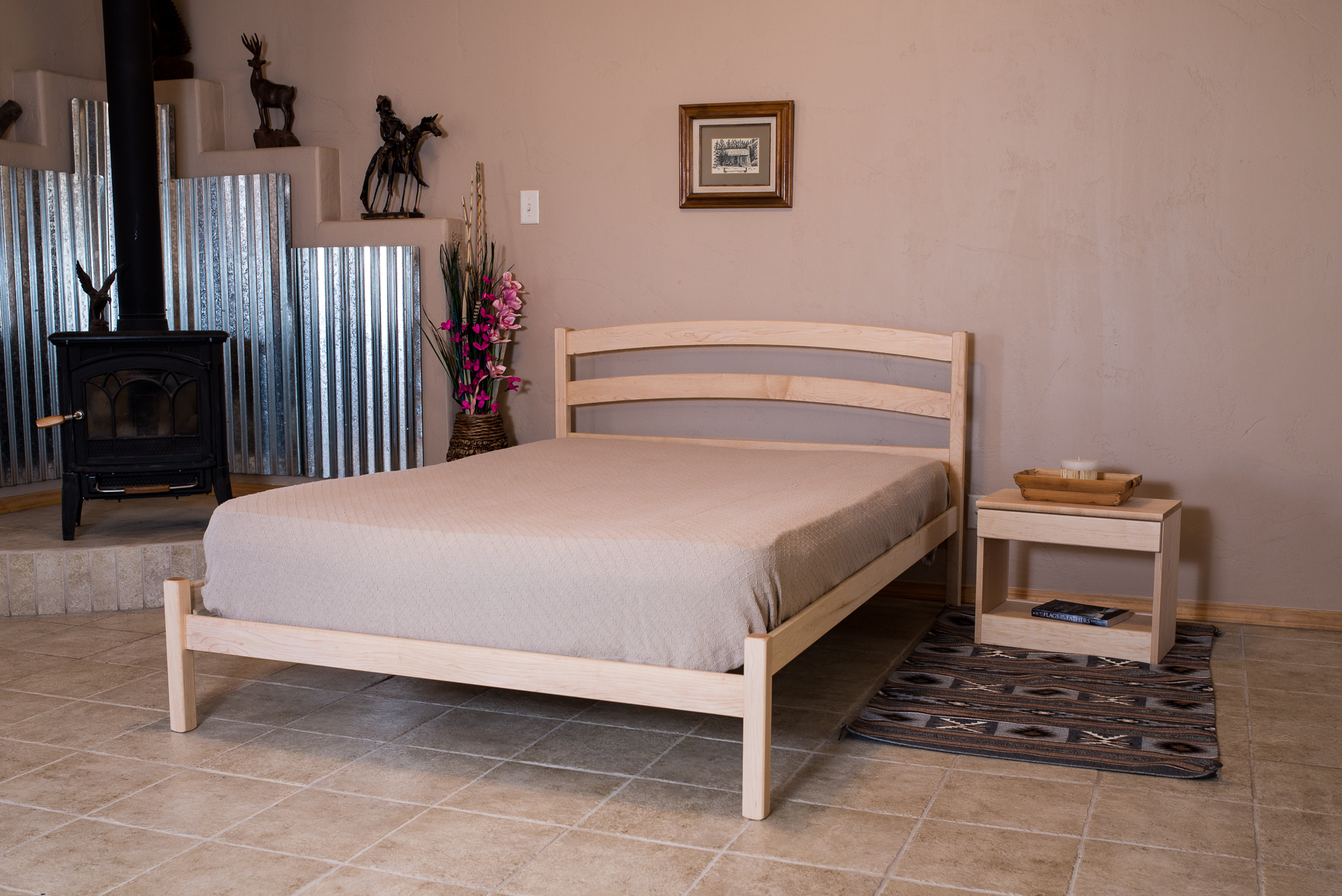 The Rainbow Bed shown in Maple