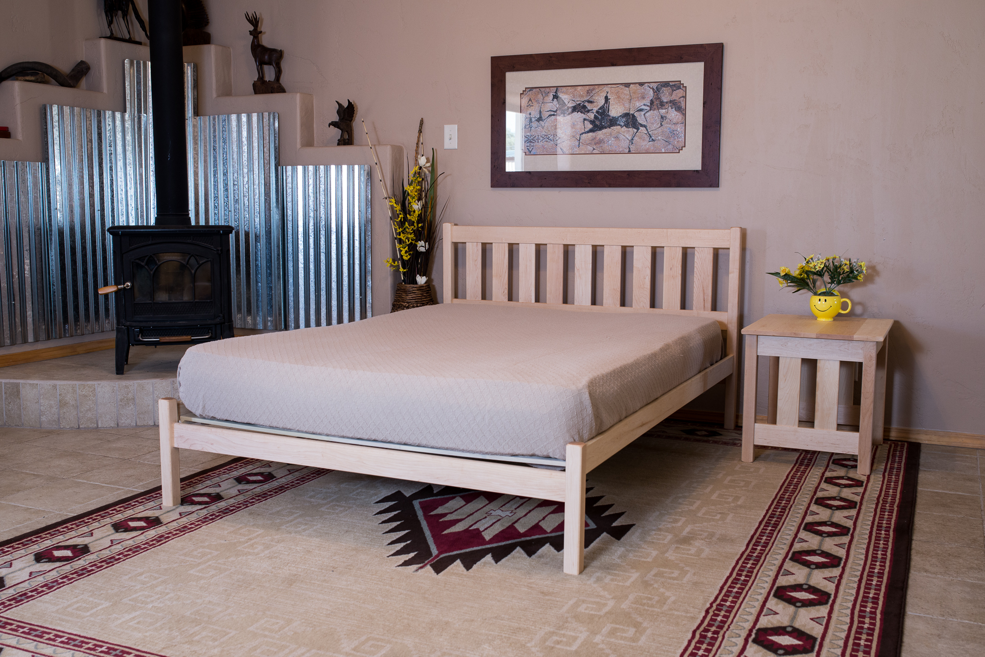 Mission Bed Table with Mission Bed