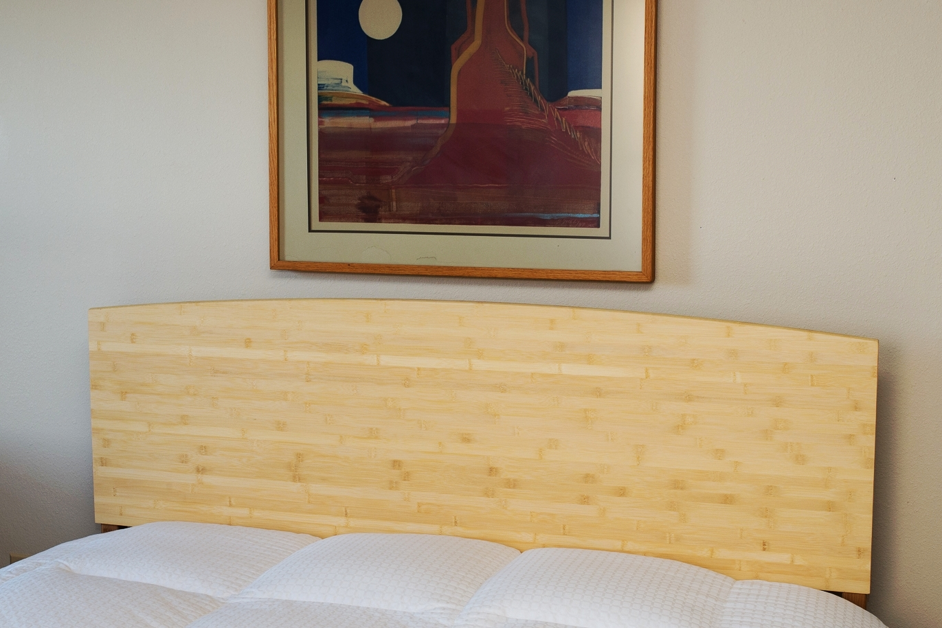Vista Bed shown in Light Bamboo