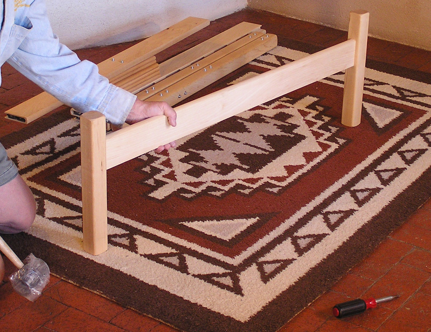 Pecos Bed in Light Bamboo with underbed drawers