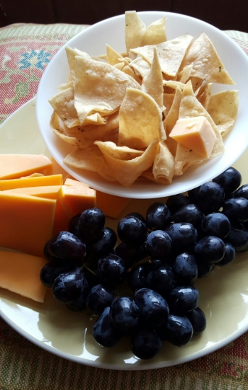 Original CHips Black Grapes Sharp Cheddar Cheese, makes a perfect snack to share!