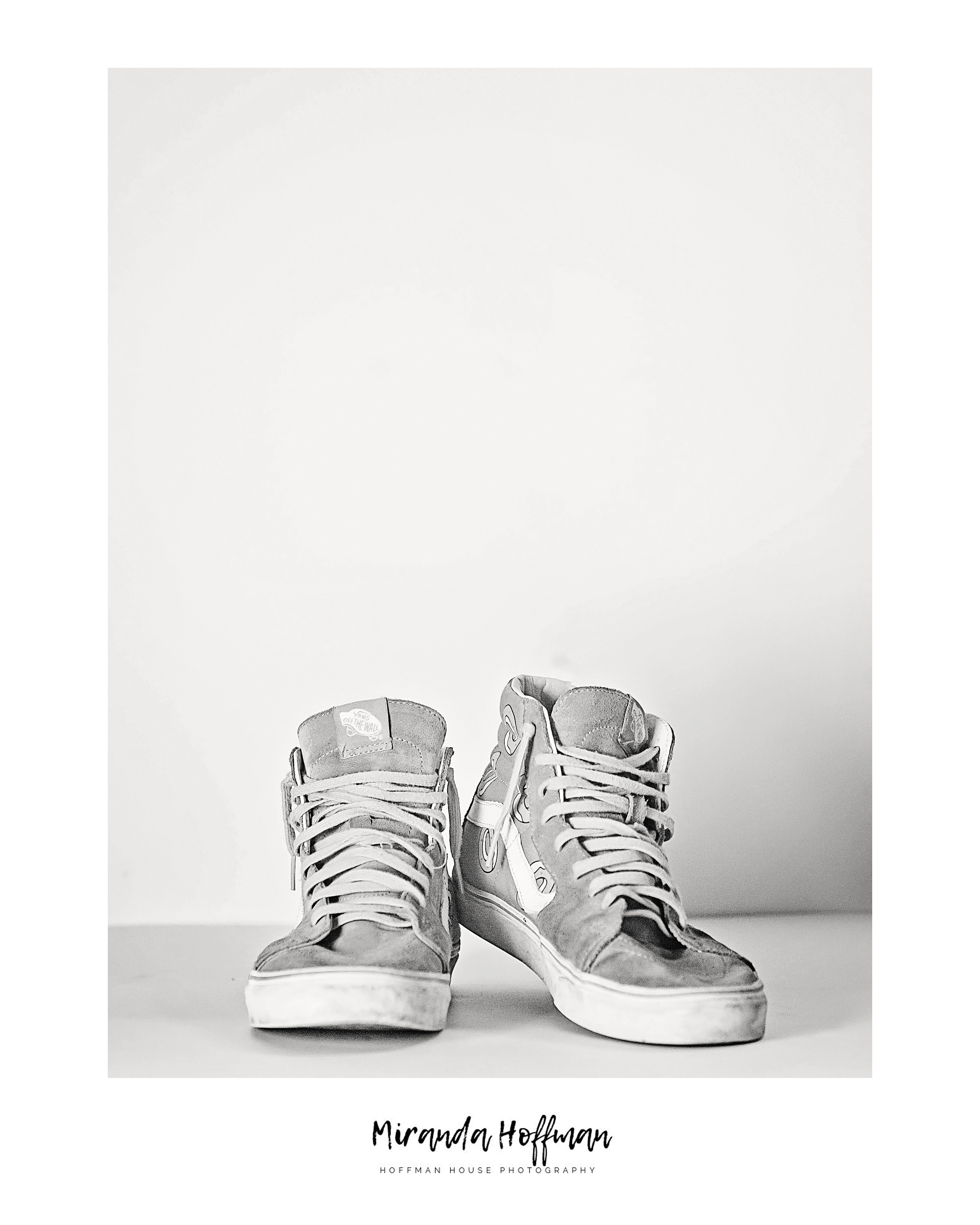 in your shoes - black & white