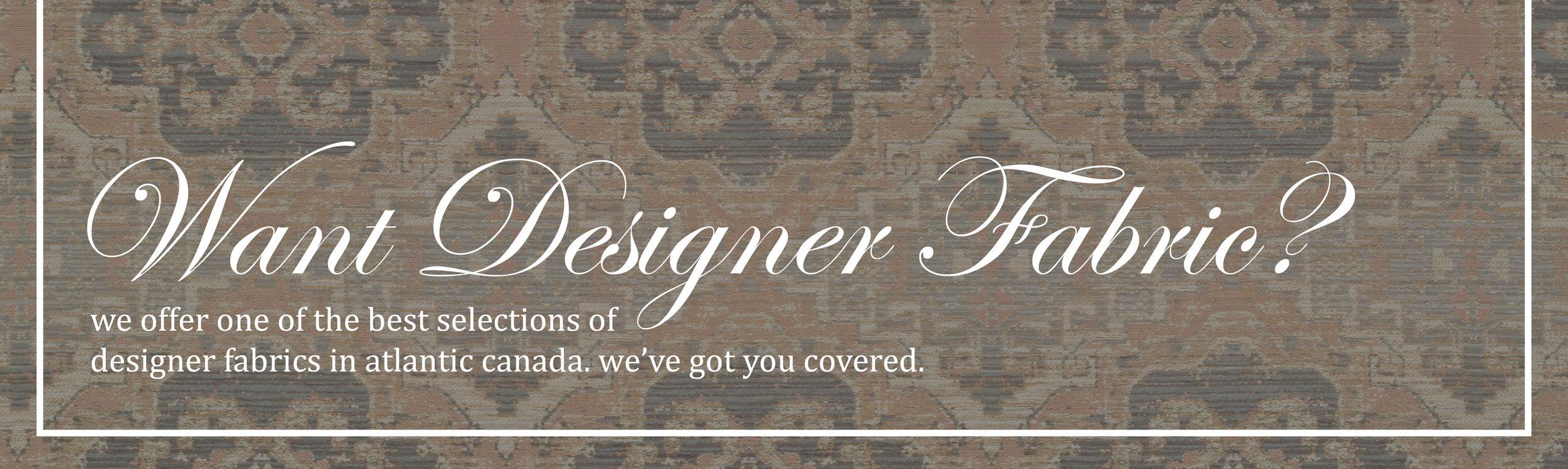 Want Designer Fabric?