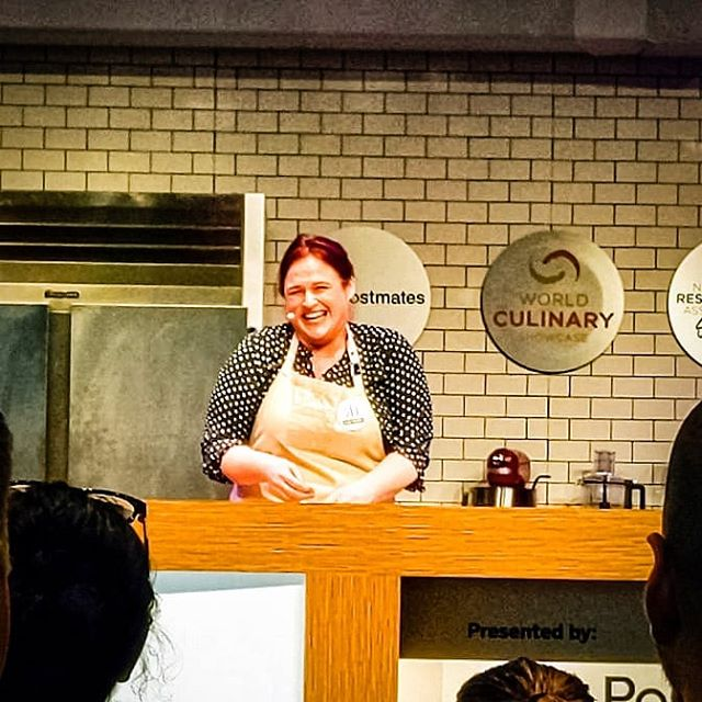 Women Supporting Women! Thank you @kariunderly for empowering women in the male dominated world of meat! You're an inspiration! . . . . . @mccormickplace @nationalrestaurantshow #100yearsofwow #nationalrestaurantshow #women #thefutureisfemale #chicago #Do312 #chicagofoodie #chicagofoodmag #chicagoeats #chicagofoodscene #chicagofoodauthority #chicagogram #chicagoeater #zagat #eater #foodandwine #bonappetitmag #infatuation #food #foodie #meat #butcher