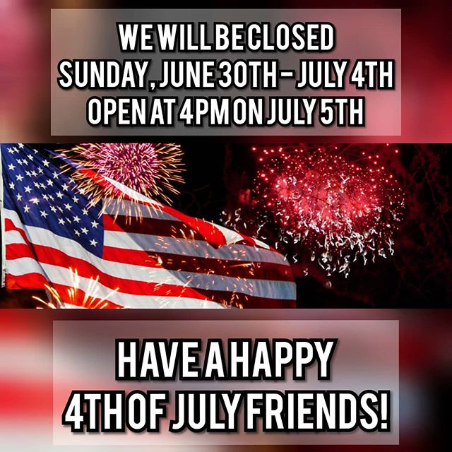 We look forward to seeing you all after an amazing Independence Weekend! 🎆🇺🇸 . . . . . #independenceday #4thofjuly #america #chicagofoods #chicago #do312  #chicagofoodie #chicagofoodmag #chicagoeats #chicagofoodscene #chicagofoodauthority #chicagogram #chicagoeater #zagat #eater #foodandwine #bonappetitmag #infatuation #food #foodie #foodporn #foodgram #instafood #foodshare #nom #yum #steak #steakhouse #meat #chophouse