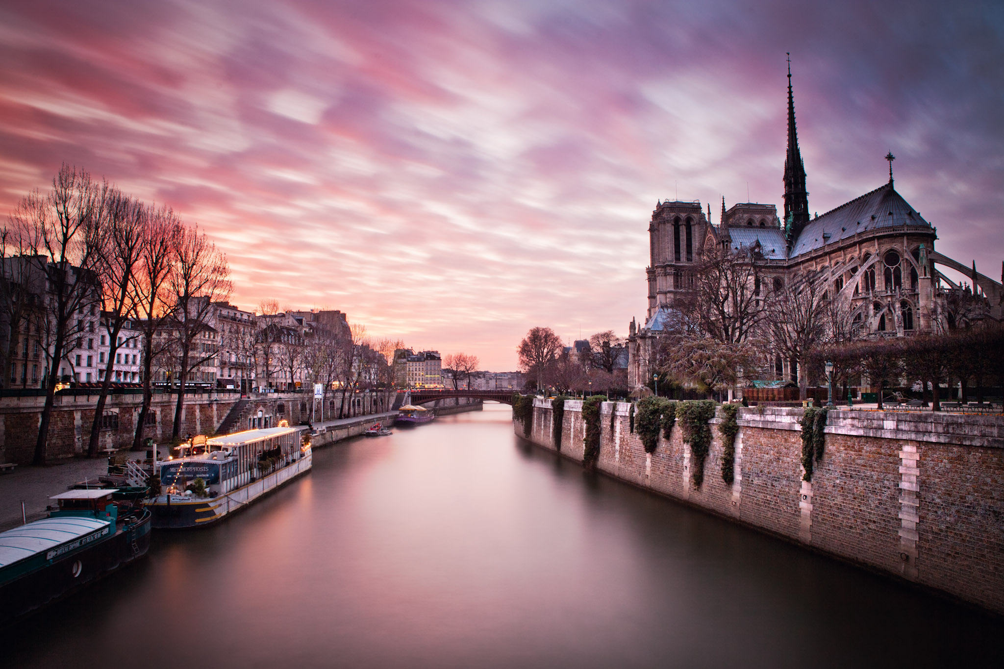 Notre Dame long exposure.