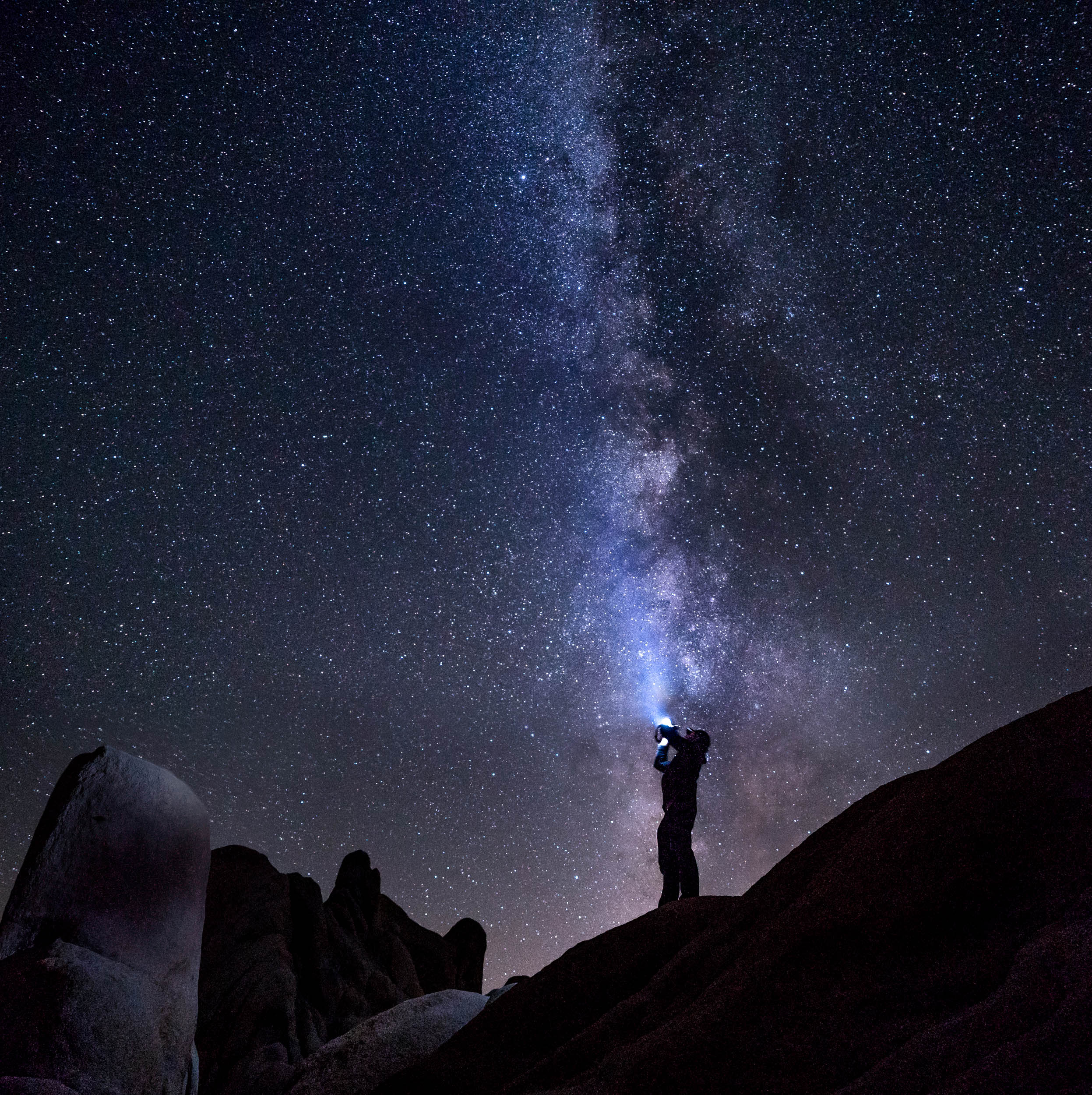 Shooting the milky way in the Joshua Tree National Park.