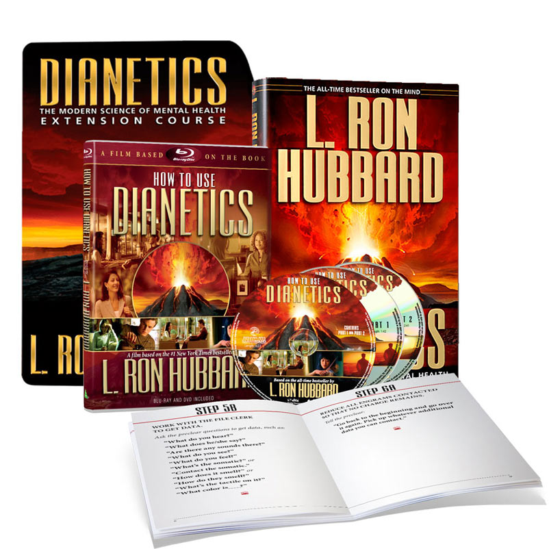 Dianetics Home Study Kit - • New Dianetics hardcover edition• 4-Hour video program highlighting key concepts• Online training course with exercises to help you overcome fear and self-sabotage• Optional free 1-on-1 coaching and support to get YOUR questions answered