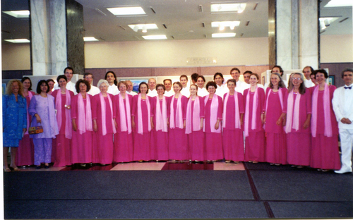 The choir at the UN, 2004