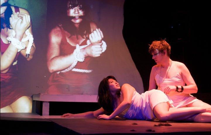 Christine as Iphigenia, Adam Dodds as Achilles