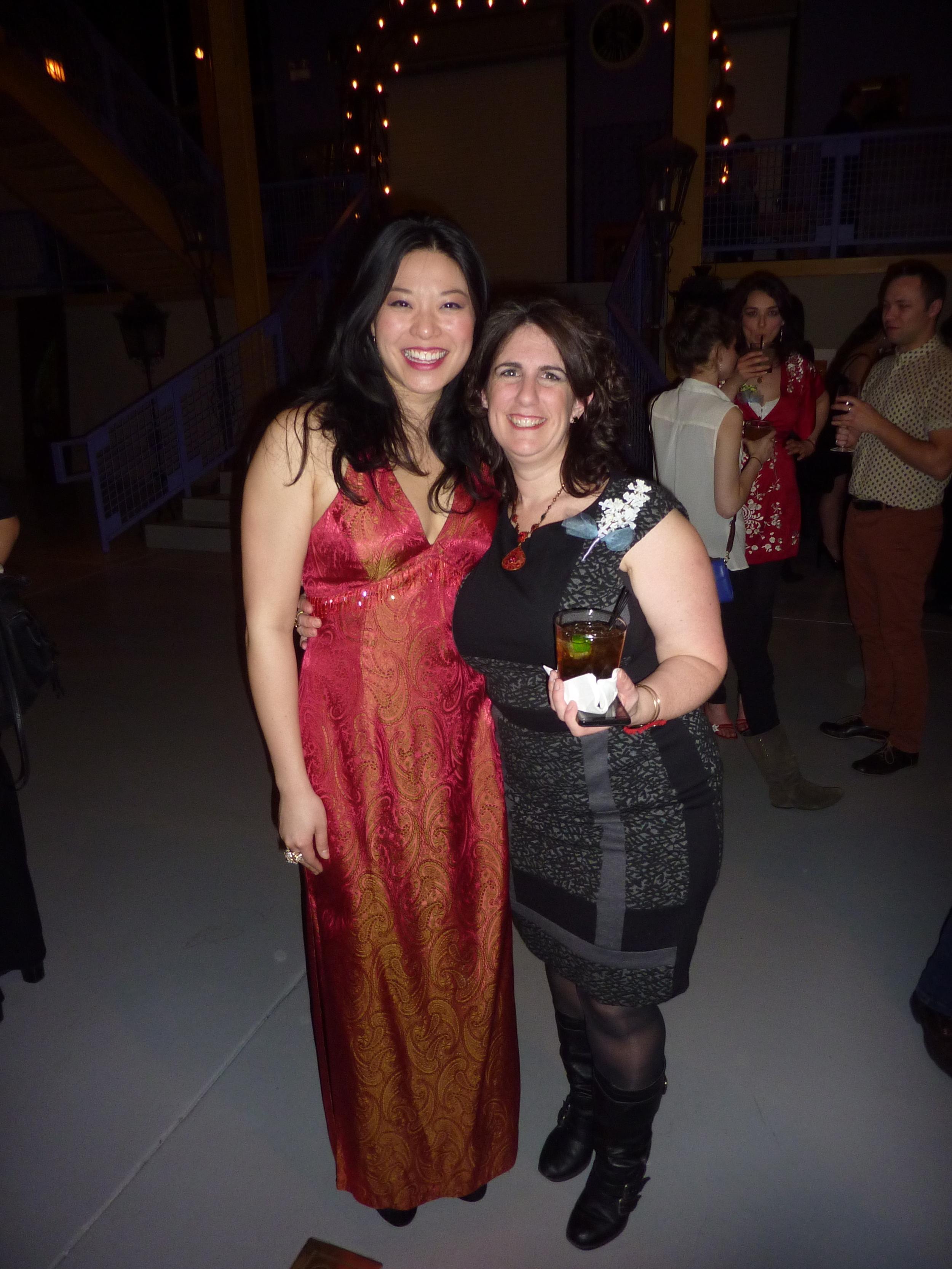 Halcyon co-founder Jenn Adams and me