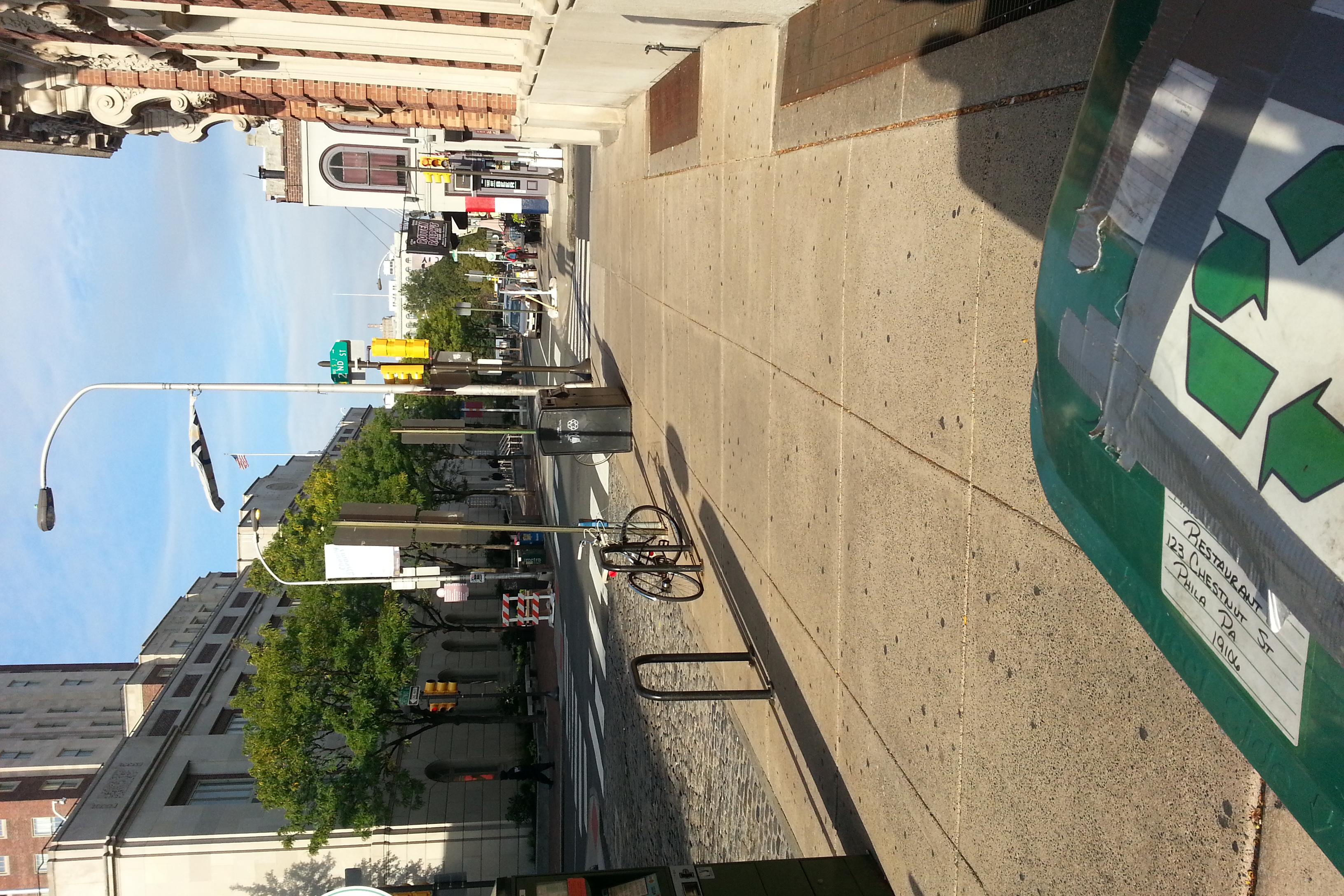 Chestnut Street in the morning.