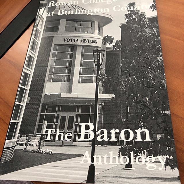 Really proud of all the work we did for our new college anthology The Baron. I was one of the non fiction editors.