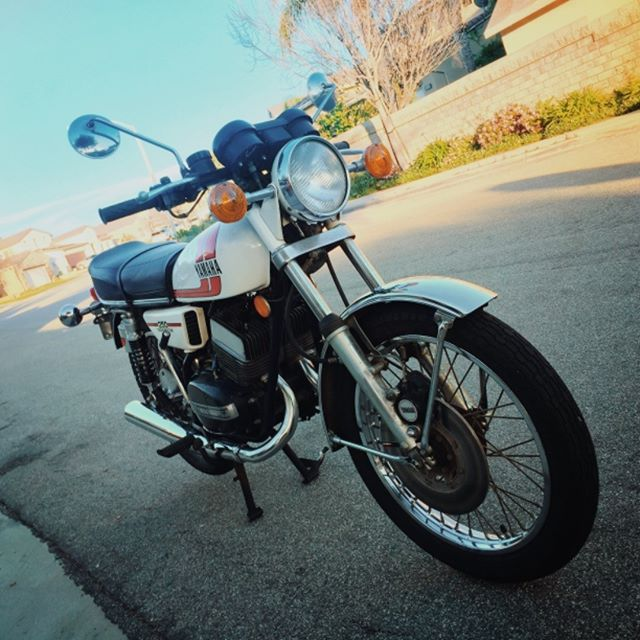 """There's been an awakening, have you felt it?"" -(some random guy named)Snoke. Picture vehicle #3 (before mod). #Yamaha #RD250 #caferacer #picturevehicle #preproduction"