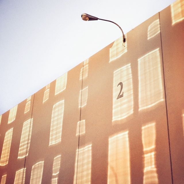 Stage 2 is a window reflection catcher in the evenings. #backlot #preproduction #breaktime