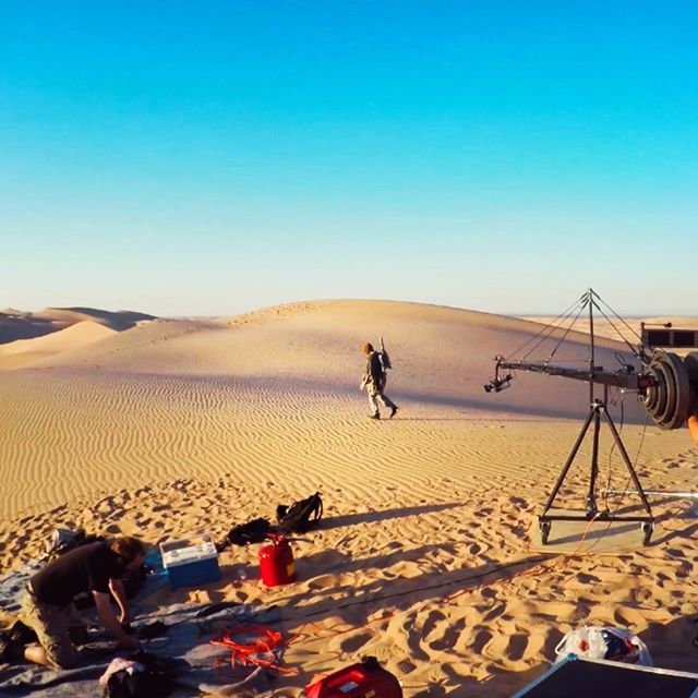 Celibratin' May the 4th with a throw back to filming the Boba short out in the dunes. #maythe4thbewithyou #bobafett #fbf
