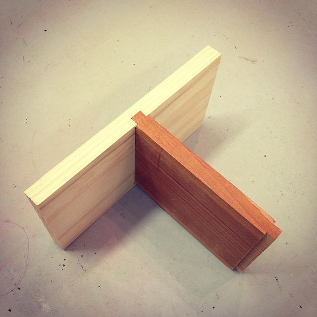 Worked on my sliding dovetail this past weekend. Just FYI, it's a very strong joint. #makehouse #progress #woodworking