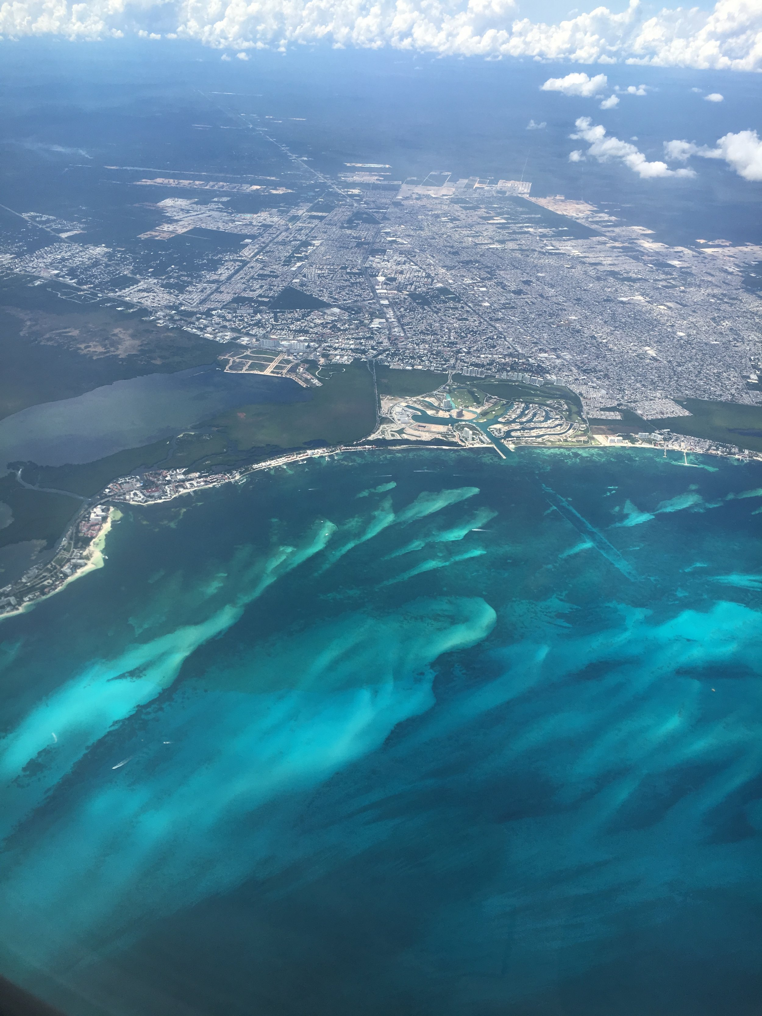 photograph-from-airplane-over-playa-del-carmen-mexico