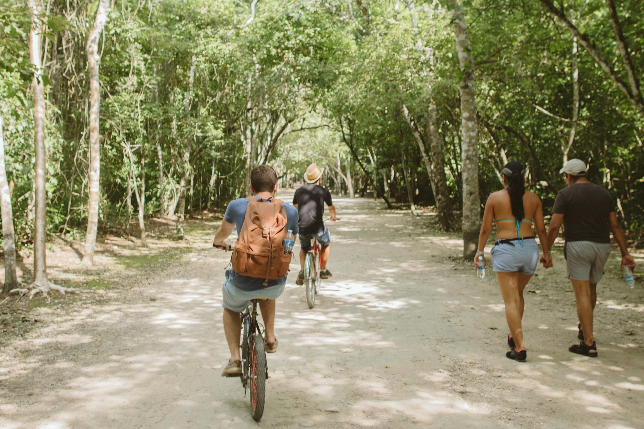 biking-through-coba-ruins-mexico
