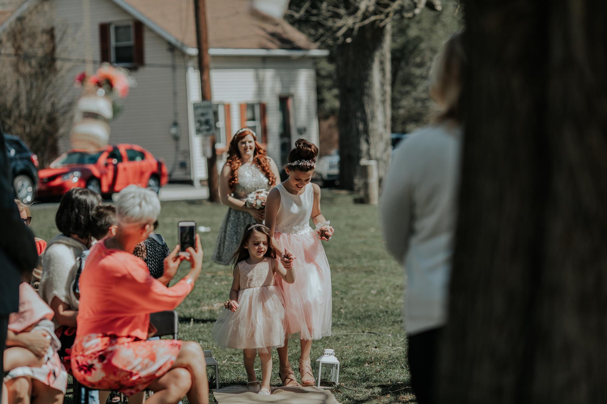 bridal-procession-easton-pennsylvania-wedding-photographers